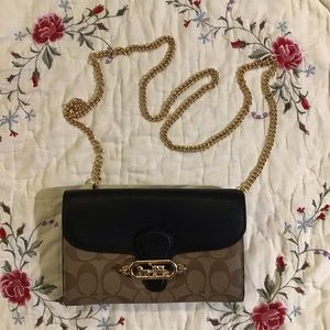 COACH Elle Leather Crossbody/Clutch Chain Strap
